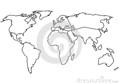 World Map With Continents World Map Outline Continents