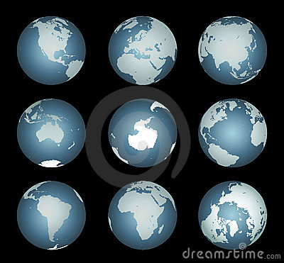 World Continents (Vector also)