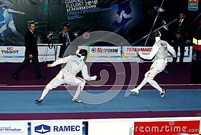 World cup 2010. Fencing. Yuki Ota Editorial Photo
