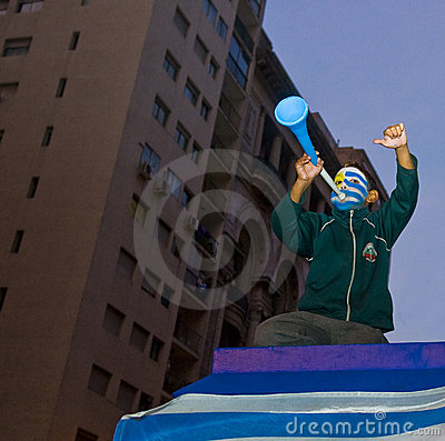 World cup 2010 in Montevideo Uruguay Editorial Stock Image