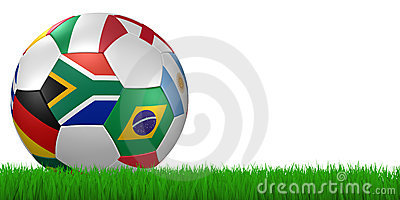 World cup 2010 soccer ball in grass