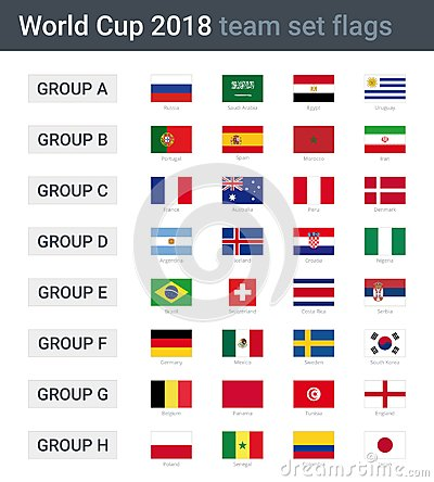 Free World Cup 2018 Team Flags Royalty Free Stock Photos - 109473698