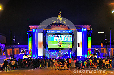 World Cup 2014, Berlin Germany Editorial Stock Image