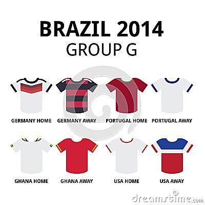 World cup brazil 2014 group f teams football jerseys editorial image