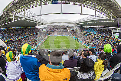 World Cup Brazil 2014 - Uruguay 2 X 1 England Editorial Stock Photo