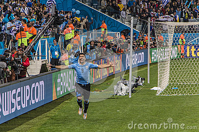 World Cup Brazil 2014 - Uruguay 2 X 1 England Editorial Stock Image