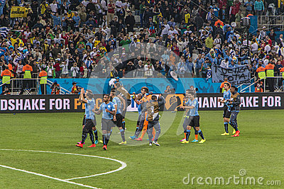 World Cup Brazil 2014 - Uruguay 2 X 1 England Editorial Stock Photo