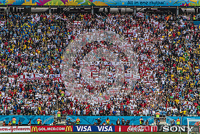 World Cup Brazil 2014 - Uruguay 2 X 1 England Editorial Photography