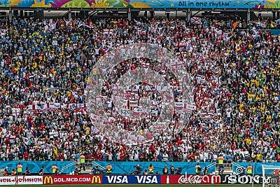 World Cup Brazil 2014 - Uruguay 2 X 1 England Editorial Photography