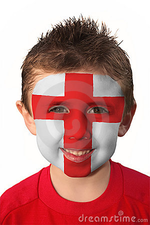 World Cup Face Paint - England