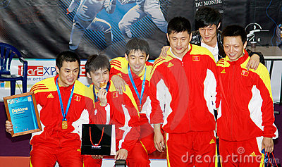 World cup fencing. Stage winners Editorial Stock Photo