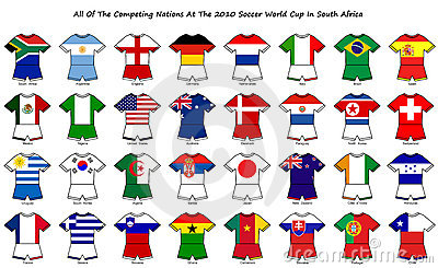 World cup flag strip designs