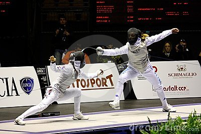 World Cup Foil Women Senior 2009, Fencing Editorial Stock Photo