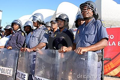World Cup Riot Police Editorial Image