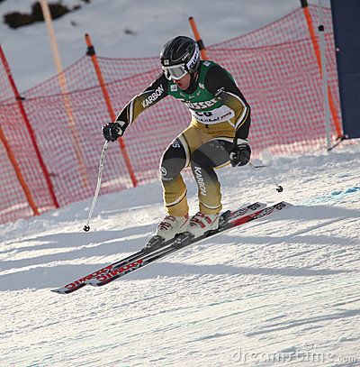 World cup skier Craig Branch Australia Editorial Stock Image
