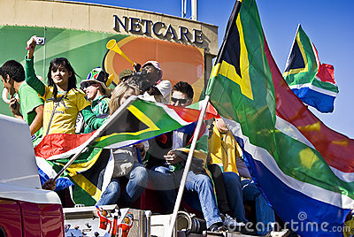 World Cup Soccer Fever Grips Sandton Editorial Stock Image