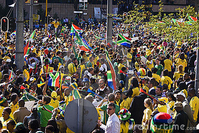 World Cup Soccer Fever Grips Sandton Editorial Image