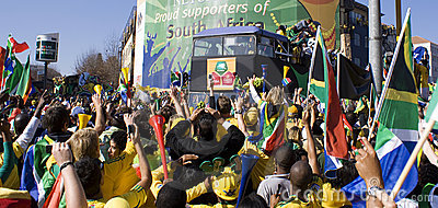 World Cup Soccer Fever Grips Sandton Streets Editorial Image