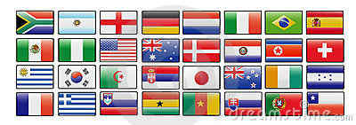 World cup vector flags