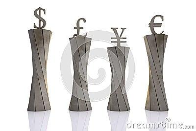 World currencies put on pedestals