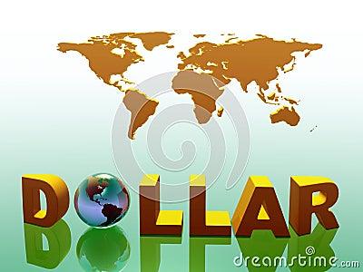 World currency, dollar.
