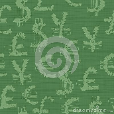 World currency seamless pattern