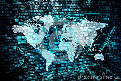 World data processing concept Stock Photo