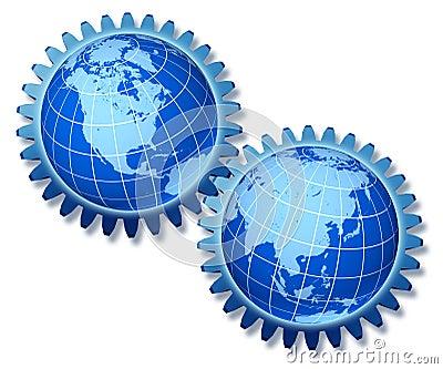 World economy symbol