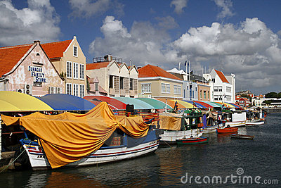 World Famous Floating Market in Curacao Editorial Photography