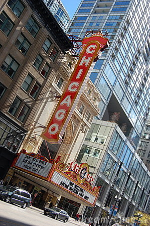 World Famous Landmark Chicago Theater Editorial Image