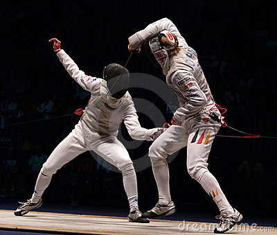 World Fencing Championship 2006, Baldini-Joppich Editorial Stock Image
