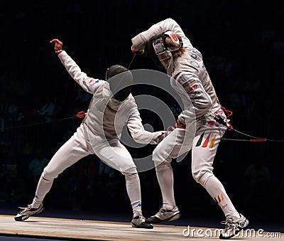 World Fencing Championship 2006, Baldini-Joppich Editorial Stock Image