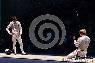 World Fencing Championship 2006 Baldini vs Joppich Editorial Stock Photo