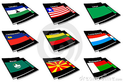 World flag book collection 16