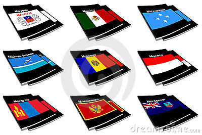 World flag book collection 18