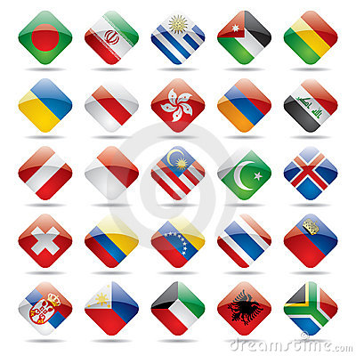 World flag icons 3