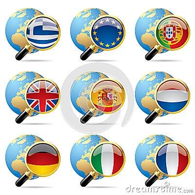 World flag icons