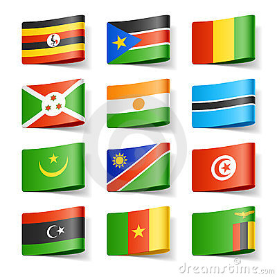 Free World Flags. Africa. Royalty Free Stock Photos - 23800598
