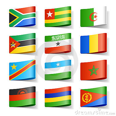 World flags. Africa.