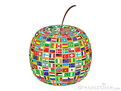 World flags on apple