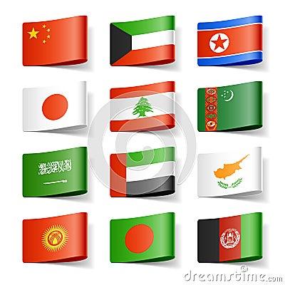 Free World Flags. Asia. Stock Photo - 23800600