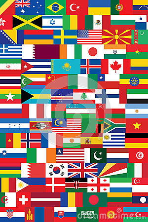World flags backround