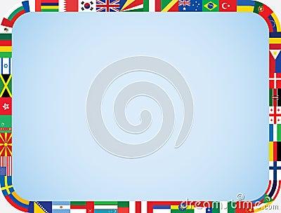 World flags frame
