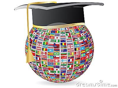 World flags graduation