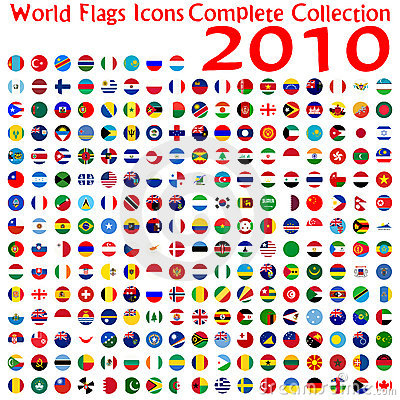 World flags icons collection
