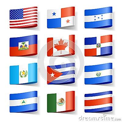 World flags. North America.