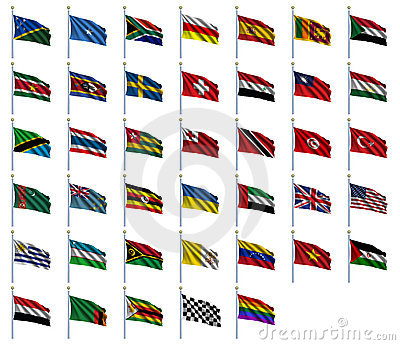 World Flags Set 4 of 4