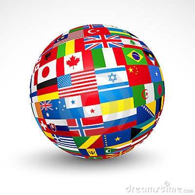 Free World Flags Sphere. Royalty Free Stock Images - 20782779