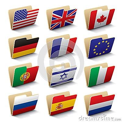 Free World Folders Icons 1 Stock Photo - 7509990