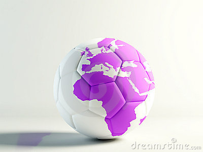 World football  lilac